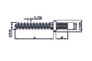 Wkręt do kości drobnych ZESPOL mikro Ø3,5mm z nakretką