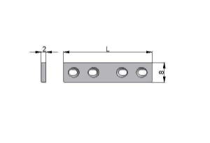 Płytka drobna 8,0 x 2,0mm samodociskowa pod wkręty Ø2,0mm