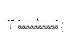 Płytka reconstrukcyjna 4,0 x 1,0mm mikro pod wkręty Ø1,5mm