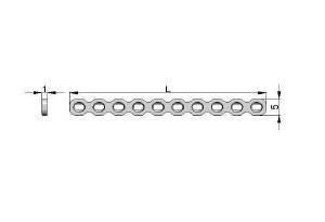 Płytka rekonstrukcyjna 5,0 x 1;0mm pod wkręty Ø2,0mm