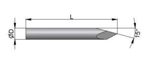 Drut Kirschnera z ostrzem jednostronnym typu trokar
