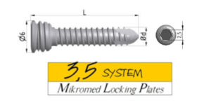 locking screw SYSTEM 3,5 HEX